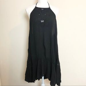 Free People Heat Wave Halter Tunic Dress